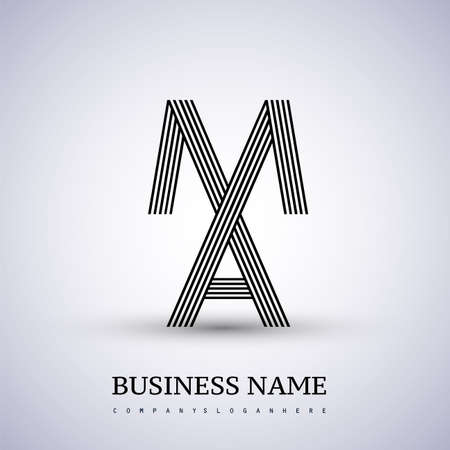 Letter MA linked logo design. Elegant symbol for your business or company identity.