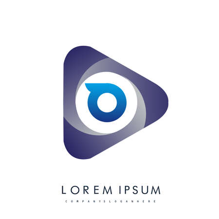 O letter logo in the triangle shape, font icon, Vector design template elements for your Business or company identity.