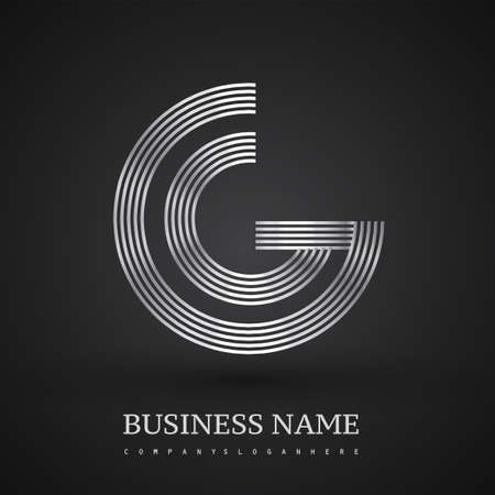 Letter GC logo design circle G shape. Elegant silver colored, symbol for your business name or company identity. Logó