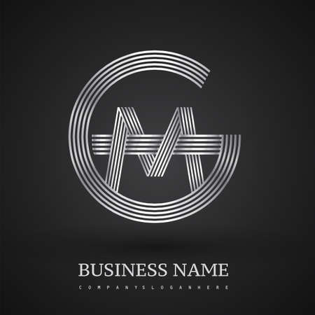 Letter MG logo design circle G shape. Elegant silver colored, symbol for your business name or company identity.