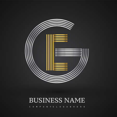Letter EG logo design circle G shape. Elegant silver and gold colored, symbol for your business name or company identity.
