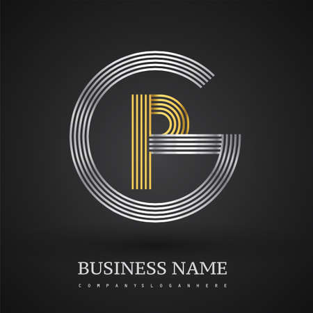 Letter PG logo design circle G shape. Elegant silver and gold colored, symbol for your business name or company identity.