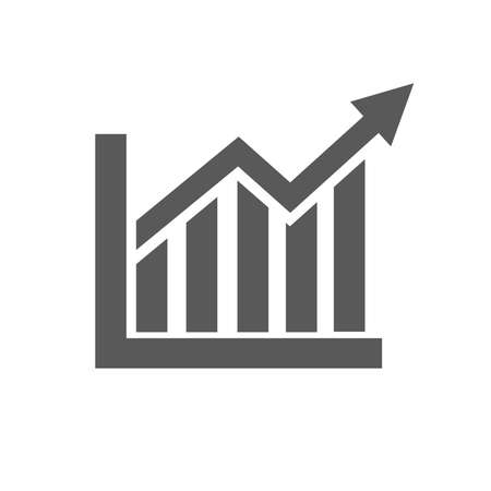 Graph Icon vector isolated on white background. Statistics symbol for your design, logo, application, presentation, UI