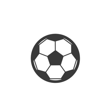 Football ball Icon vector isolated on white background. sport symbol for your design, logo, application, UI