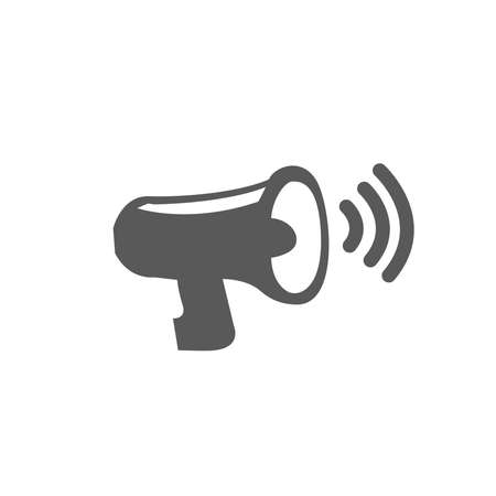 Megaphone icon vector isolated on white background, sound symbol for your design, website, logo, application, UI.