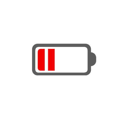Battery icon vector isolated on white background. Иллюстрация