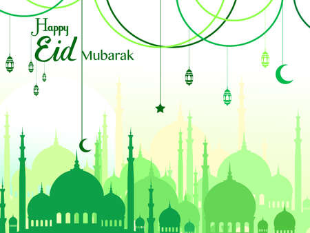 Ramadan greetings background, Elegant element for design template, place for text greeting card for Ramadan kareem Vector Illustration