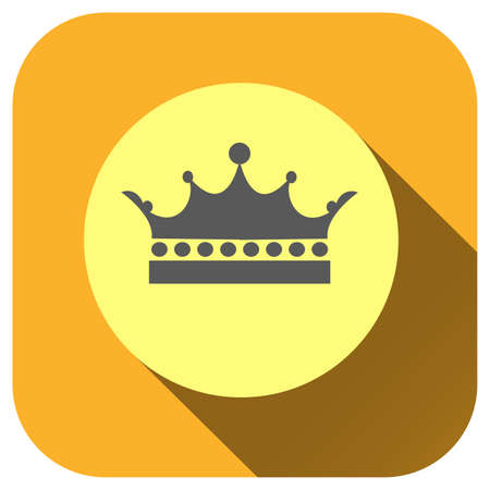 Crown icon vector logo for design, symbol, application, website, UI. Stock Illustratie