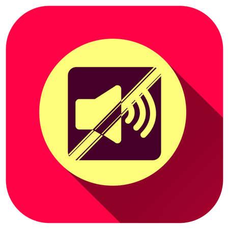 Mute sound icon, silent symbol for design, logo, application, UI, website Çizim