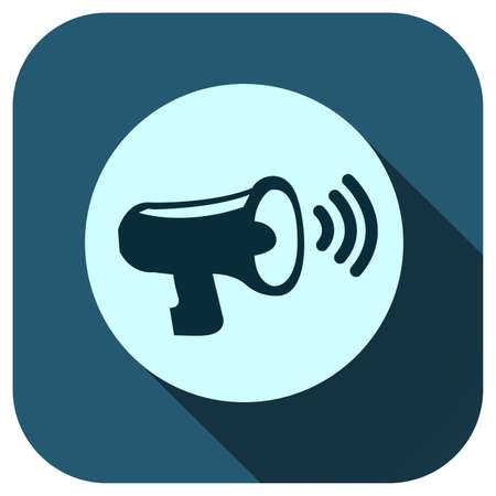 Megaphone icon vector isolated on white background, sound symbol for design, website, logo, application, UI.