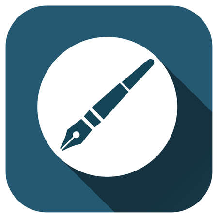 Pen icon, vector logo for your design, symbol, application, website, UI