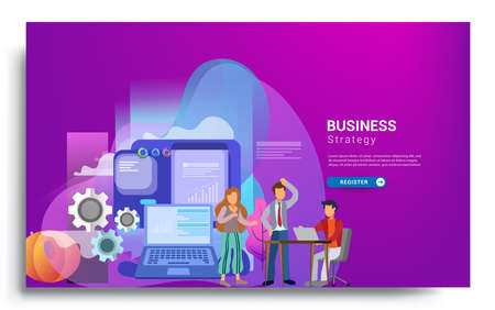Design web templates for teamwork concept, business strategy, analytics and idea. Modern vector illustration concepts for website design ui/ux and business presentation. Vector illustration