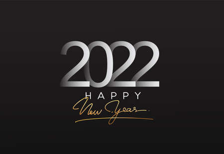 2022 modern logotype, happy new year 2022 sign, modern design vector elements for calendar and greeting card. Illustration