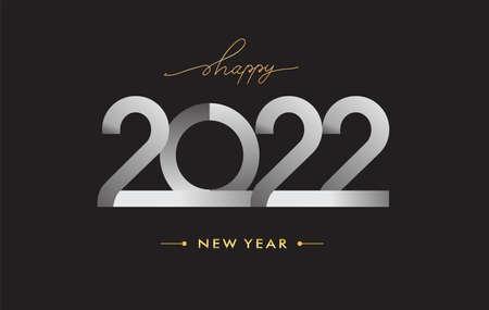 2022 modern logotype, happy new year 2022 sign, vector illustration Illustration