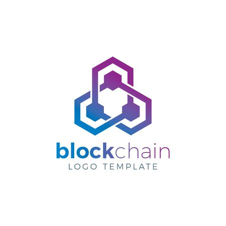 Blockchain & Crypto Currency Vector Logo Template