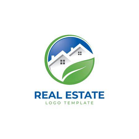 Immobilienmakler Makler Dachdecker Haus Vektor Logo Vorlage