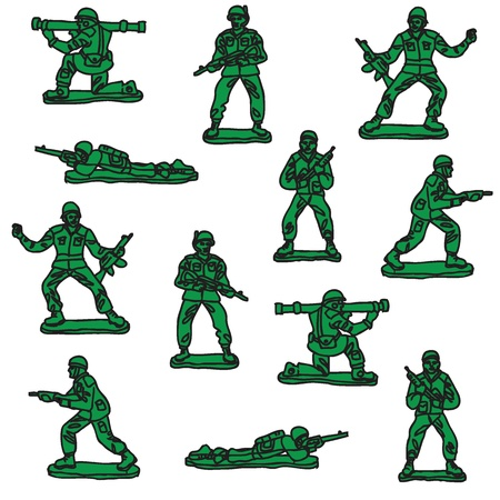 Toy soldiers vector