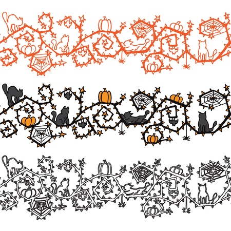 Halloween banner seamless vector Vector