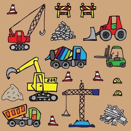 Construction seamless pattern