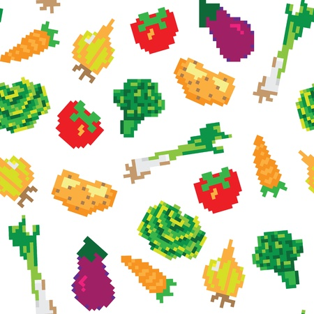 vegetables seamless pattern Stock Vector - 13551273