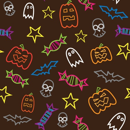 Halloween seamless pattern Stock Vector - 13551234