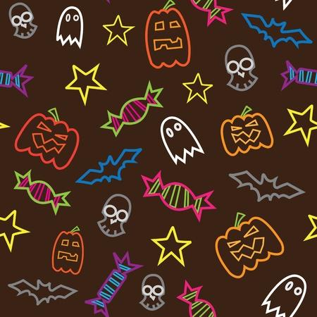 Halloween seamless pattern Stock Vector - 13551234