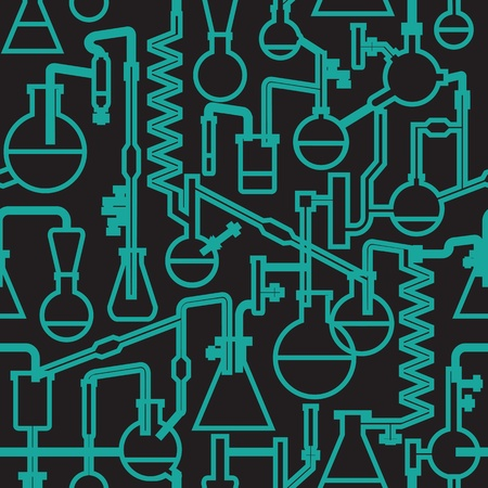 science lab vector seamless pattern Illustration