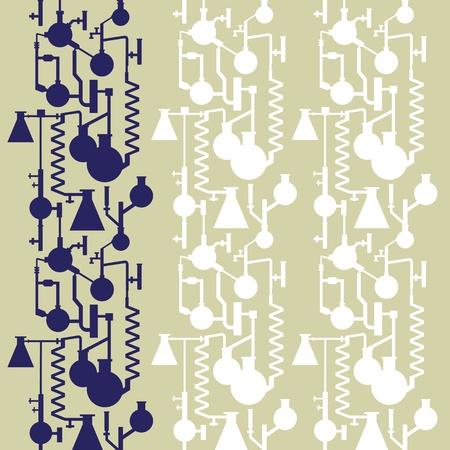 uitvinder: Science Lab banner naadloze patroon