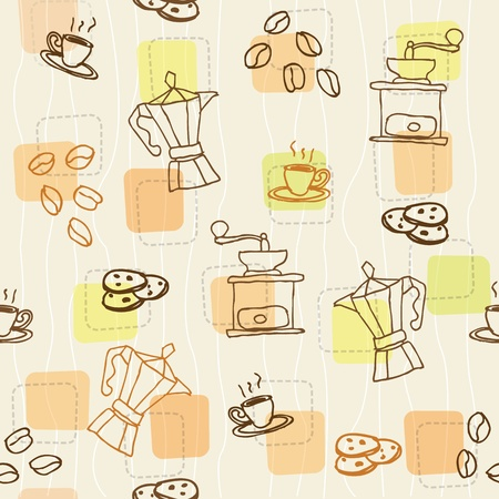 coffee seamless pattern Illustration