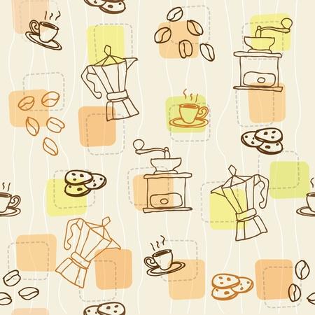 coffee seamless pattern Illustration