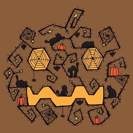 vlad: Halloween pumpkin card