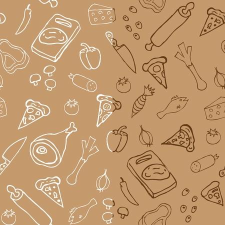 ピザのシームレスなパターン × 2