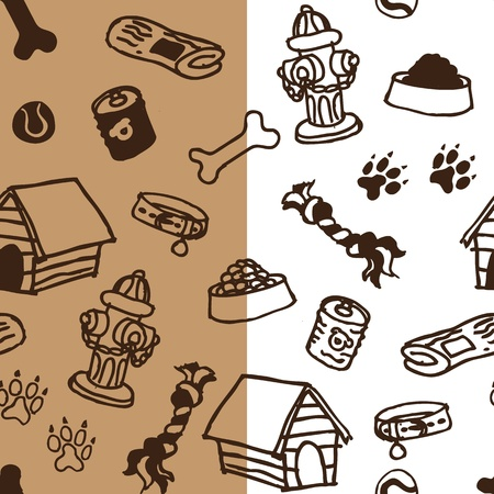 Dog supplies seamless pattern x2 Illustration