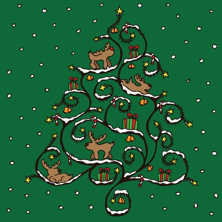 Christmas tree vector Stock Vector - 13551263