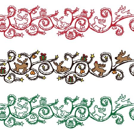 Christmas seamless border Stock Vector - 13551248
