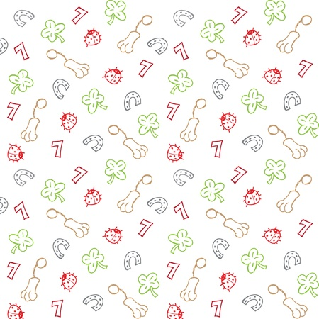 four leafed: Lucky charms seamless pattern vector