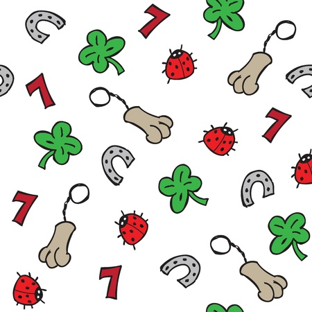 luck charms: Lucky charms seamless pattern vector