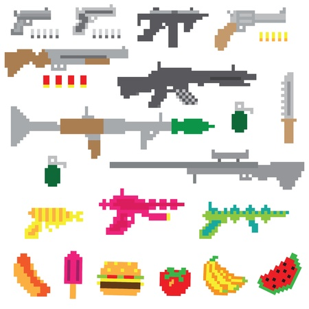 Game guns vector