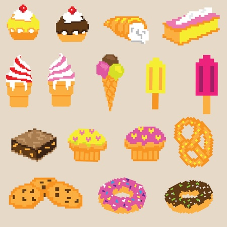 Cake sweets vector