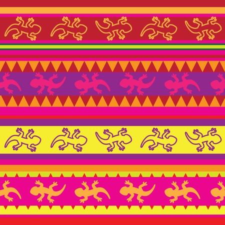 salamandra: Lagarto mexicana patrón de tejido sin costuras