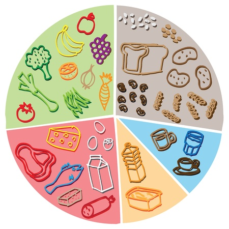 healty lifestyle: Health food diagram