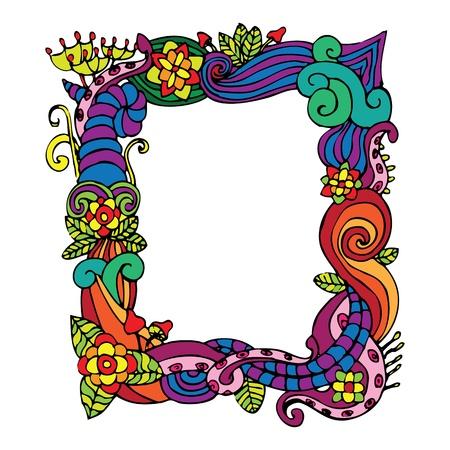 flower doodle frame Stock Vector - 13703913