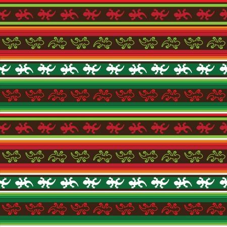 mexican lizard fabric seamless Illustration