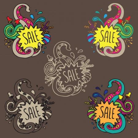 sale ornament doodle Stock Vector - 13869657