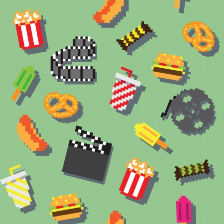 retro videogame movie pattern