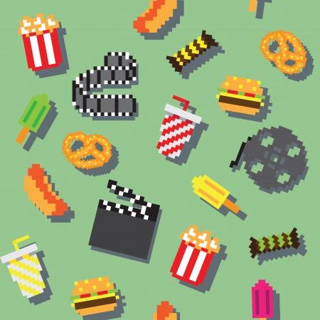 retro videogame movie pattern