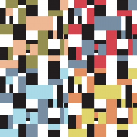 vintage fifties abstract square design