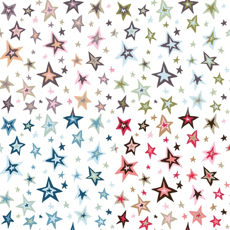 Seamless retro vintage stars design pattern Vector
