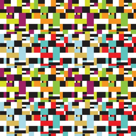 Seamless retro vintage squares design pattern Vector