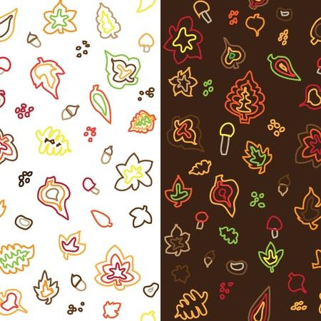 seamless retro fifties autumn stroke vector pattern Illustration